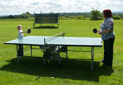Funny how table tennis is more fun in the sunshine.