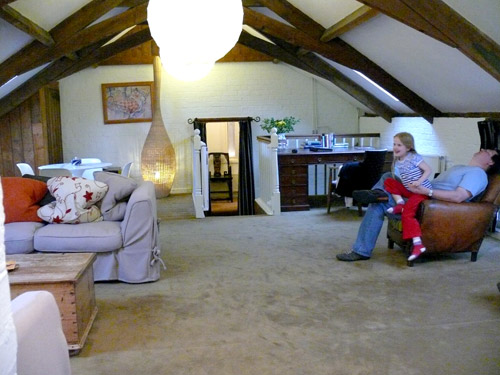 The Hayloft - Woolley Grange's largest family suite.