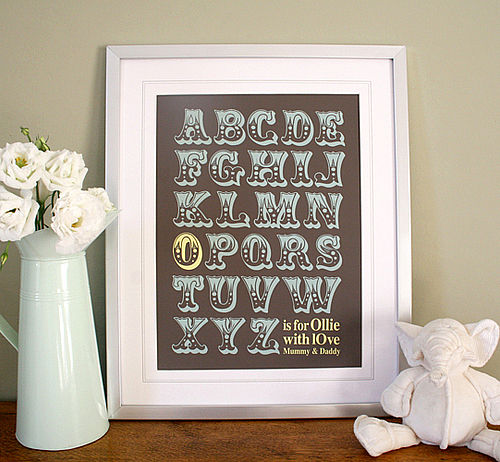 Spotted! Gorgeous Alphabet prints