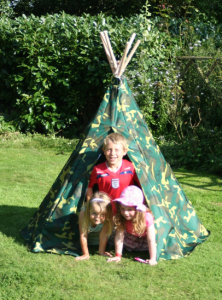 Camouflage Wigwam Play Tent from Active Garden