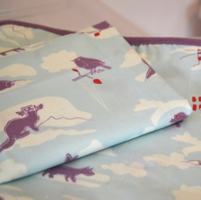 Childrens Bathrobe and Matching Cot Sheet from The Quick Brown Fox of Dulwich