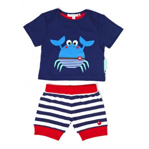 Olive Moss Crispin the Crab T-shirt and Shorts from Bumblebee Kids