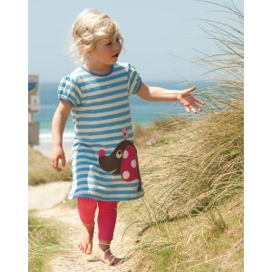 Frugi Cornish Blue Stripe Tunic Dress from Bumblebee Kids