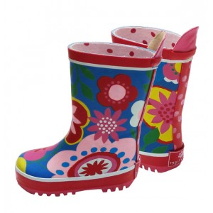 Toby Tiger Multiflower Wellies at Bumblebee Kids