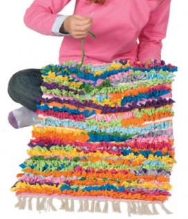make a ruffle rug kit
