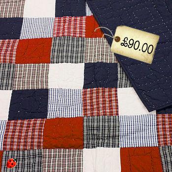 patchwork quilt for older boys