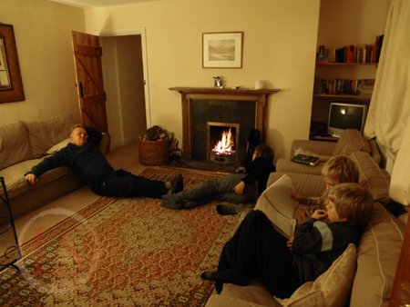 remote holday cottage log fire