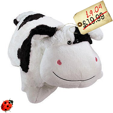 pillow pets plush cow