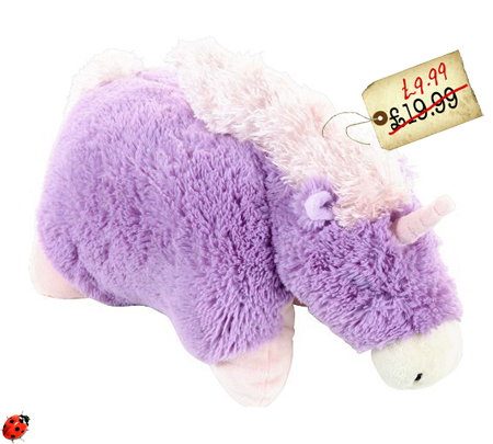 pillow pets purple unicorn plush