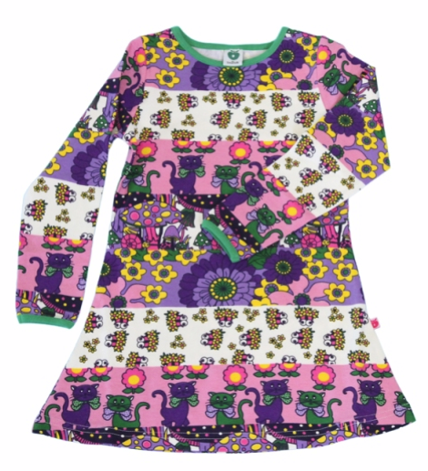 This dress has it alll - cats, flowers, owls, mushrooms... and in such a practical and comfy fabric too.  £29.95, sizes 1-8yrs.