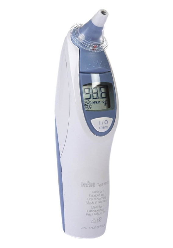 how to clean braun ear thermometer