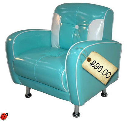 retro 50's children's chair