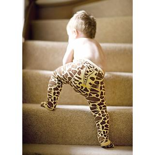 These make me smile! Baberoo Giraffe Print Organic Tights - £12.95