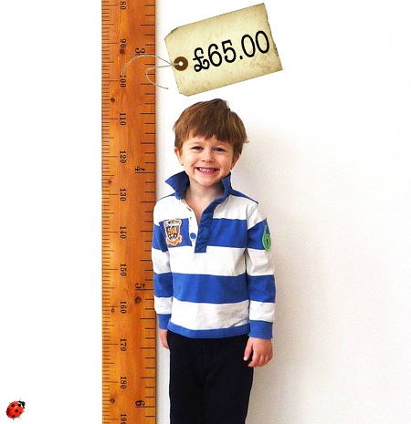 height chart vintage ruler