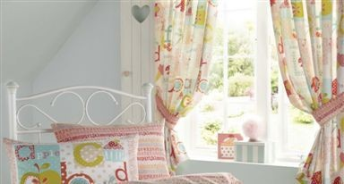 Alphabet Pencil Pleat Curtains - only £29.99 (was £39.99)