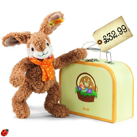 steiff easter rabbit bunny with suitcase