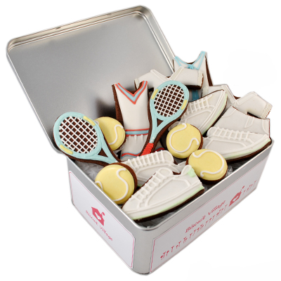 Biscuit Village Mixed Doubles Tennis Tin
