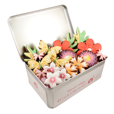 Biscuit Village Fantastic Flowers Tin
