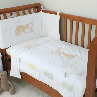 'Guess How Much I Love You' Cot Bed Quilt & Cot Bumper Set from Donttelltales.com