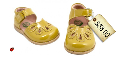 yellow girls sandals