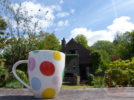 Perfect - a quiet early morning coffee in the garden