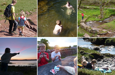 family holiday fun in brecon beacons wales