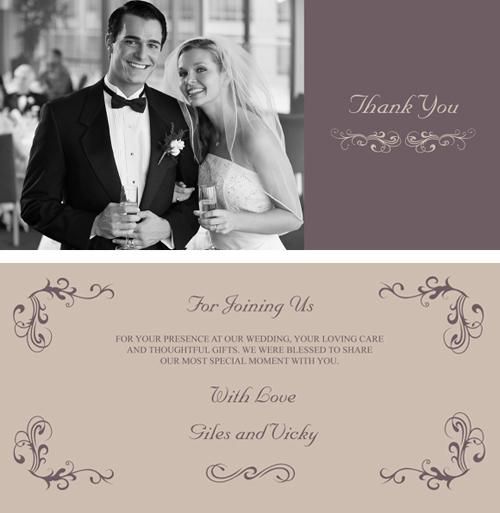 personalised wedding thank yous