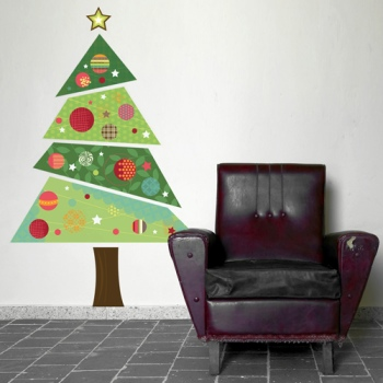 Spin Collective Christmas Tree Fabric Wall Sticker