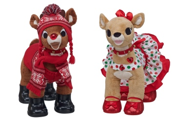 Rudolph and Clarice from Build-A-Bear Workshop