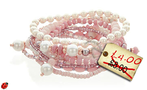 stretch bracelets pack in pink