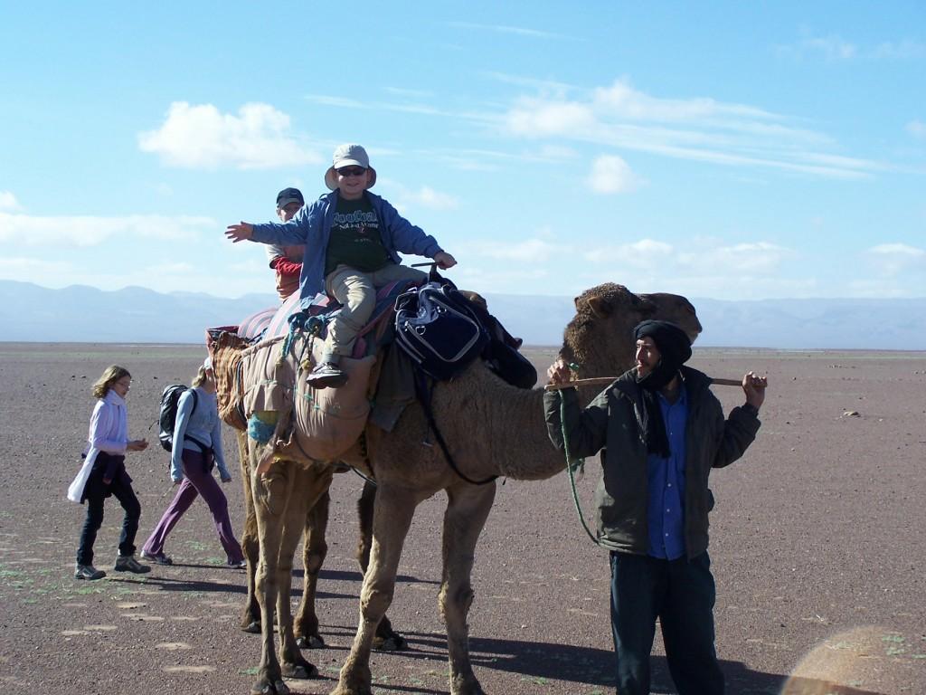 morocca camel safari for families