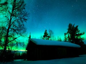 northern lights on family finland adventure holiday