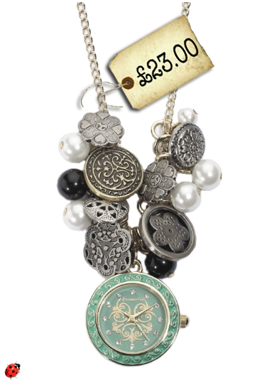 fashion charm necklace watch