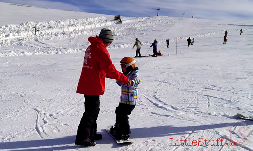 Snowboarding in the Cairngorms – about as much fun as you can have as a family.