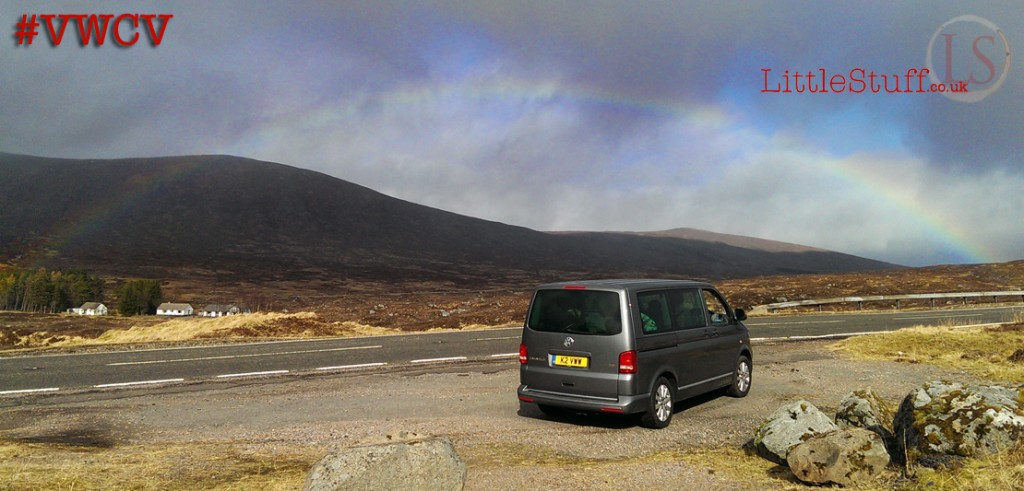Dora just watching the rainbows in Glencoe