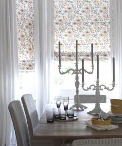 A Small Touch Of Pattern On The Windows Can Brighten Up Space Roman Shades