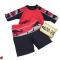 Spotted! Fabulous Red Shark Rash & Board Shorts!