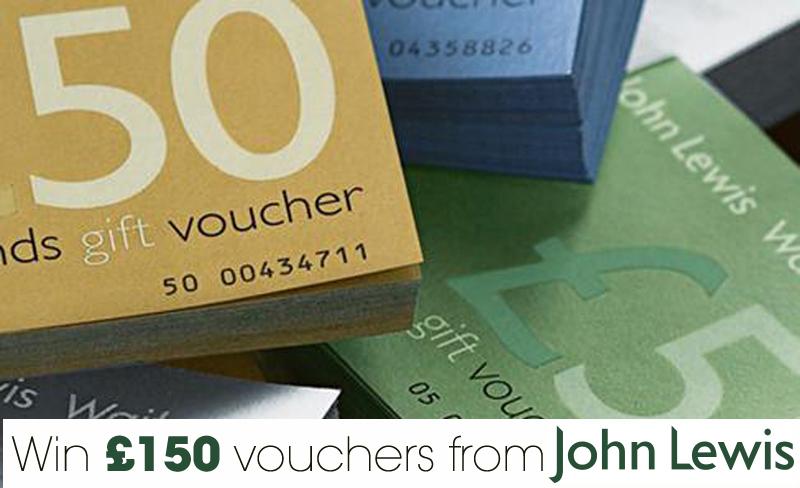 Win £150 John Lewis Vouchers
