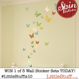 24hrs for five people to win £52 of fabulous Fabric Wall Sticker Sets each – Day 5 of our 10th Birthday Bash
