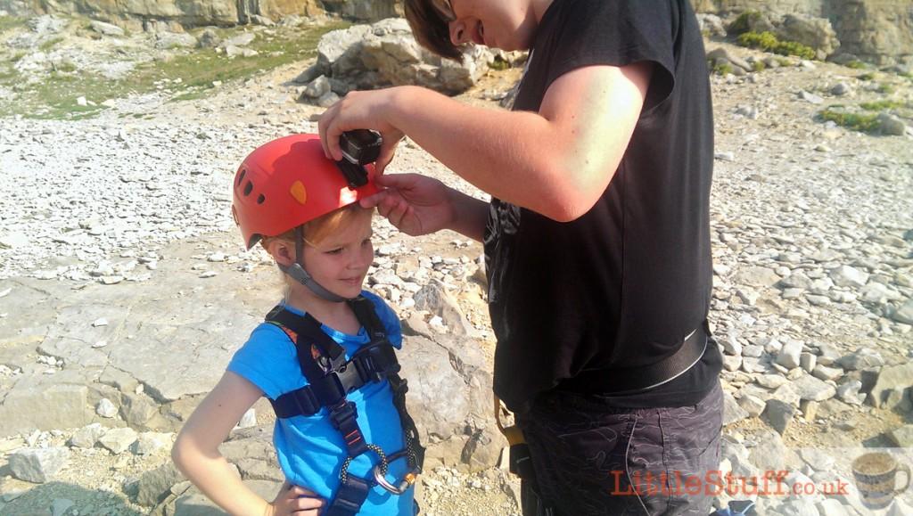 fixing-headcam-to-helmet-with-adhesive-pads