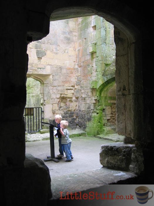 children-exploring-castle