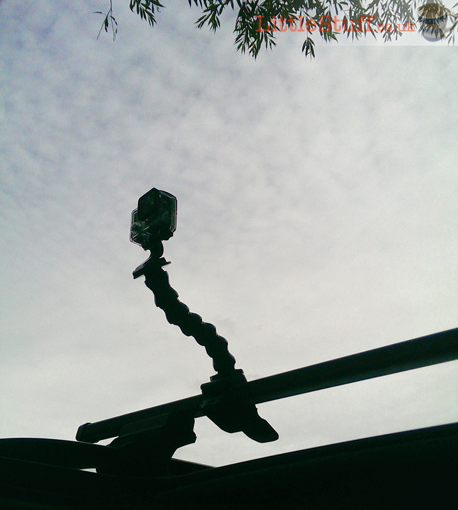 Go-Pro on a roof rack