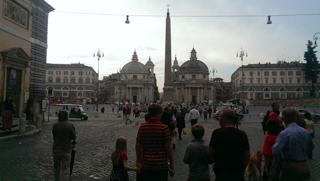 "The Piazza Del Popolo - the site that greets you when you emerge from the train station. Talk about shouting ""you're in ROME!"""
