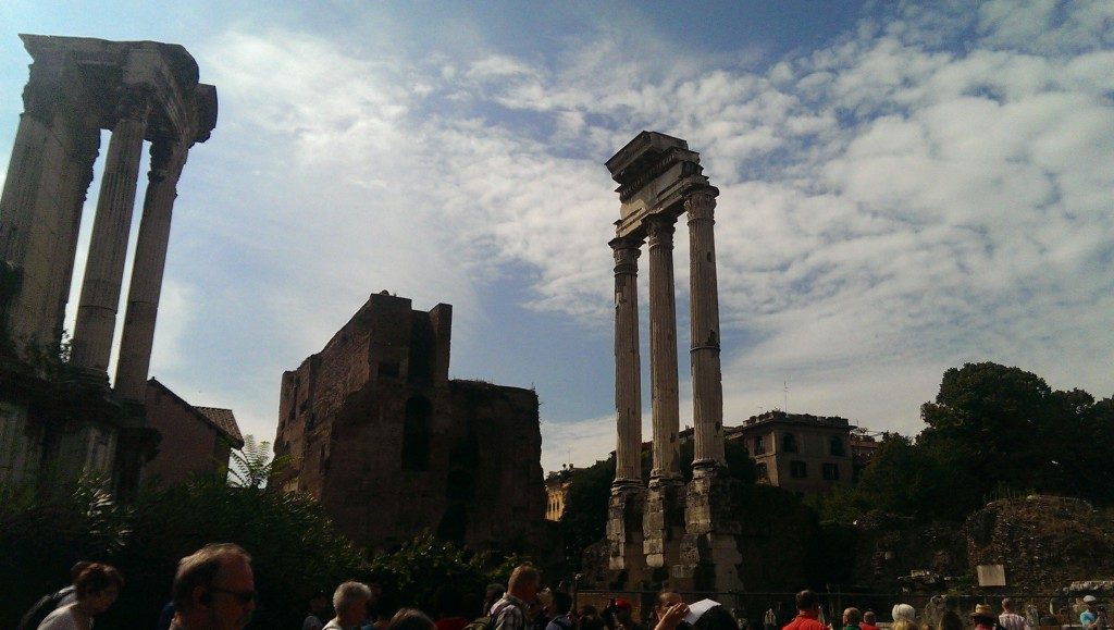 Roman forum remains