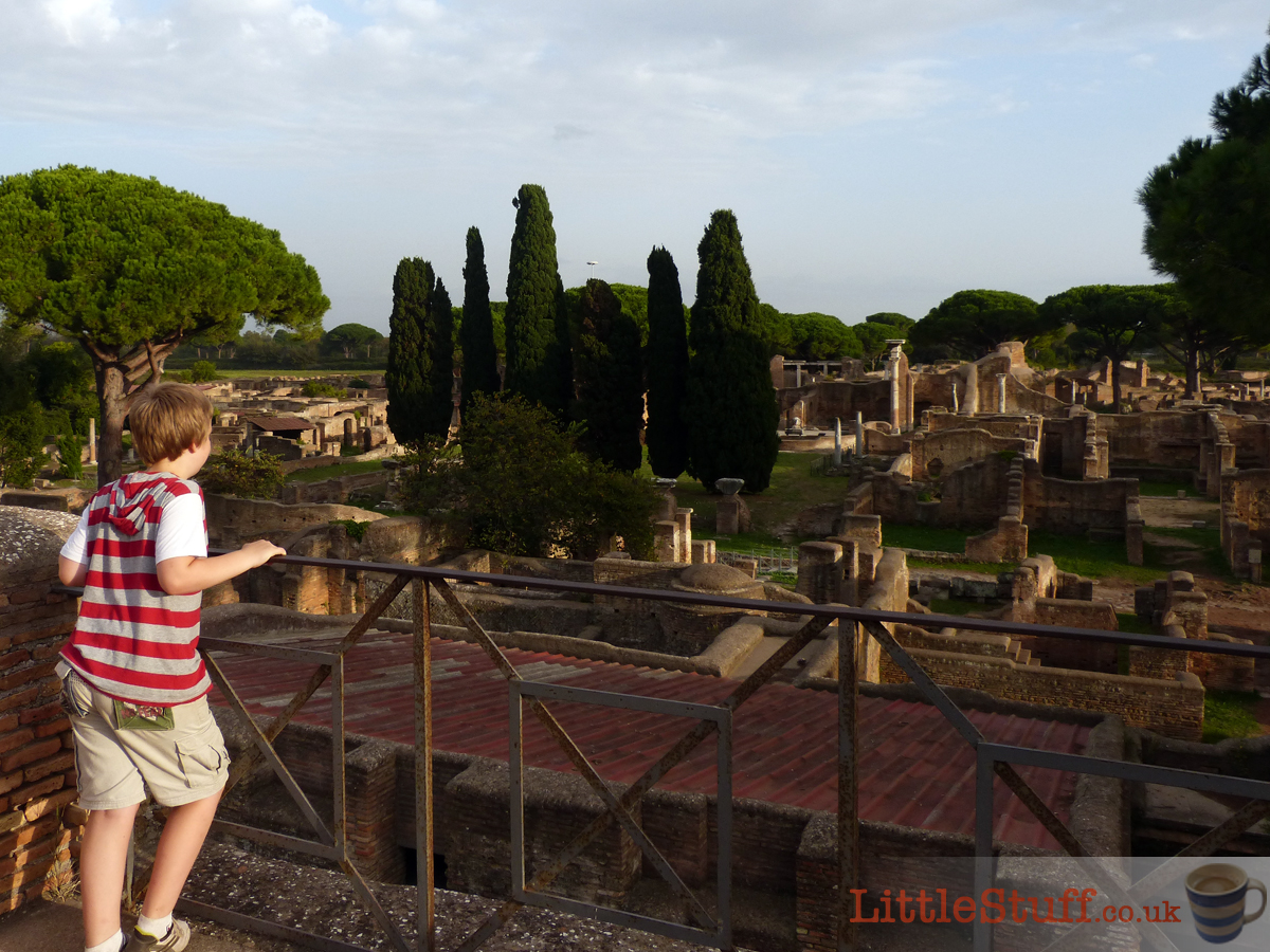 marvelling at the view across Ostia Antica