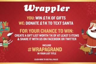 WIN £1000 of Christmas Gifts – and a matching donation to TextSanta #WrapAGrand