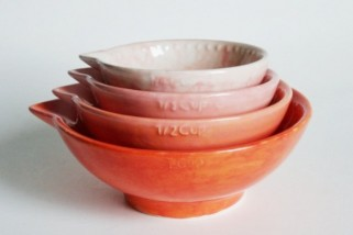 Spotted! Amazingly Beautiful measuring cups. *want*