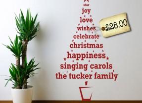 Personalised Christmas Tree Wall Sticker | Pre-Christmas Shopping List