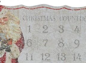 Vintage feel traditional Father Christmas Advent Calendar | Pre-Christmas Shopping