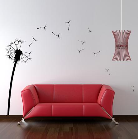 Unique wall stickers for home dandelion